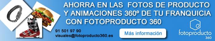 AHORRA EN LAS  FOTOS DE PRODUCTO Y ANIMACIONES 360º DE TU FRANQUICIA CON FOTOPRODUCTO 360