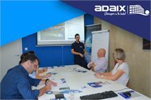 Los compañeros de Zaragoza y Terrassa han estado en las oficinas centrales de Adaix para completar su formación