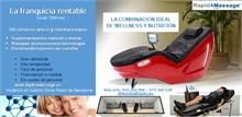 Crea tu propio negocio de masaje y electroestimulacion en camilla con dietas