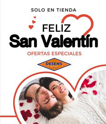 Realiza tus compras de San Valentín en DE5EN5