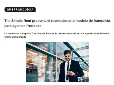 The Simple Rent, un revolucionario modelo para Agentes Freelance