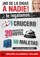 ALMEIDA VIAJES - Almeida Viajes premia a sus clientes con un crucero, 20 noches de hotel y 50 maletas