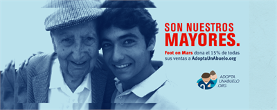 Foot on Mars dona el 15% de sus ventas online a AdoptaUnAbuelo.org