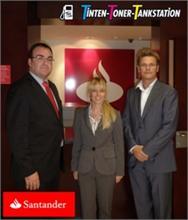 TINTEN TONER TANKSTATION - Banco Santander y TTT firman un convenio