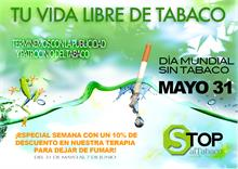 LASER THERAPY STOPaltabaco. -  DIA MUNDIAL SIN TABACO, 31 mayo